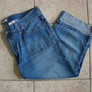 Levi's 515 Denim Jean Cuffed Capri Pants NWOT